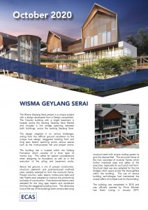 October 2020 newsletter Top: Wisma Geylang Serai